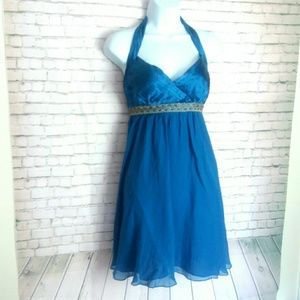 ADRIANA PAPELL royal blue cocktail dress